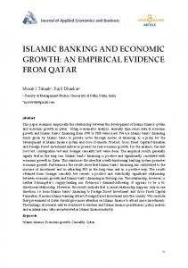 ISLAMIC BANKING AND ECONOMIC GROWTH: AN EMPIRICAL EVIDENCE FROM QATAR