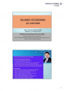 ISLAMIC ECONOMIC an overview