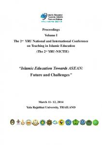 Islamic Education Towards ASEAN: Future and Challenges