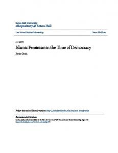 Islamic Feminism in the Time of Democracy