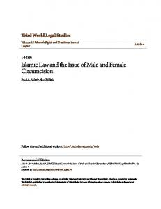 Islamic Law and the Issue of Male and Female Circumcision