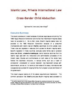 Islamic Law, Private International Law & Cross-Border Child Abduction