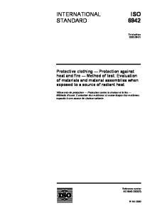 ISO 6942 INTERNATIONAL STANDARD