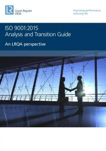 ISO 9001:2015 Analysis and Transition Guide