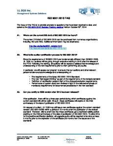 ISO 9001:2015 FAQ