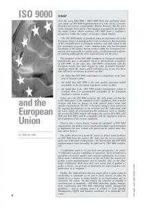 ISO and the European Union. In brief