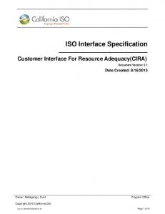 ISO Interface Specification