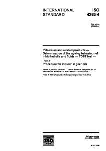ISO INTERNATIONAL STANDARD