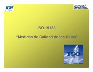 ISO Medidas de Calidad de los Datos