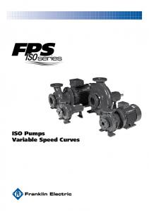 ISO Pumps Variable Speed Curves