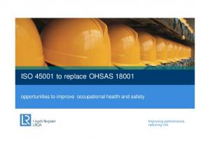 ISO to replace OHSAS 18001