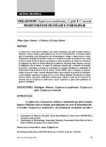 ISOLADOS DE Cryptococcus neoformans, C. gattii e C. laurentii