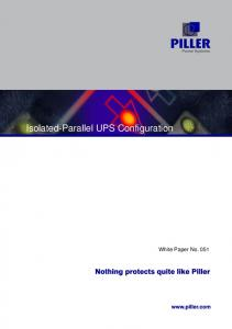 Isolated-Parallel UPS Configuration