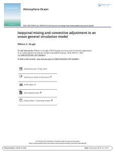 Isopycnal mixing and convective adjustment in an ocean general circulation model