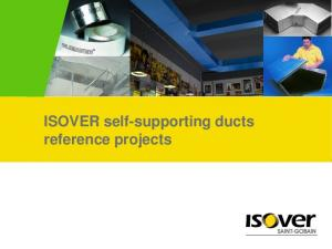 ISOVER self-supporting ducts reference projects