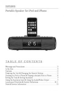 ISP209B Portable Speaker for ipod and iphone