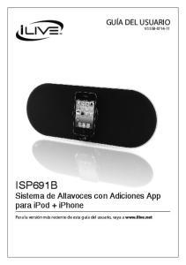 ISP691B Sistema de Altavoces con Adiciones App para ipod + iphone