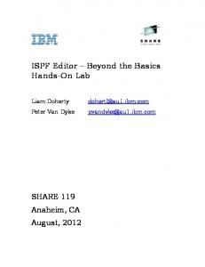 ISPF Editor Beyond the Basics Hands-On Lab
