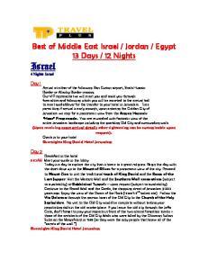Israel 4 Nights Israel