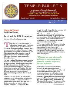 Israel and the U.N. Resolution