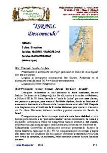 ISRAEL. ISRAEL Desconocido. esconocido