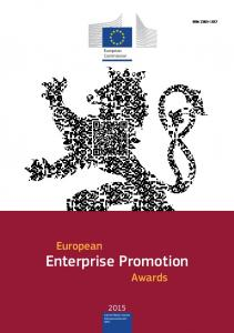 ISSN European. Commission. European. Enterprise Promotion Awards. Internal Market, Industry, Entrepreneurship and SMEs