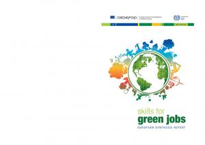 ISSN: skills for. green jobs EUROPEAN SYNTHESIS REPORT