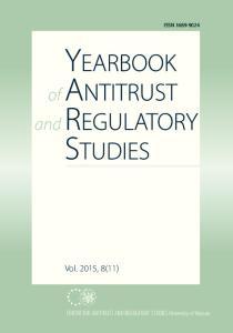ISSN Vol. 2015, 8(11) CENTRE FOR ANTITRUST AND REGULATORY STUDIES University of Warsaw