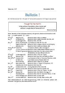 Issue no. 117 December Bulletin!