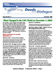 Issue Number 17 December 2004