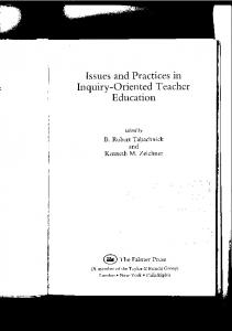 Issues and Practices in Inquiry-Oriented Teacher Education