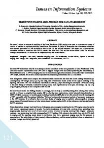 Issues in Information Systems Volume 13, Issue 1, pp , 2012
