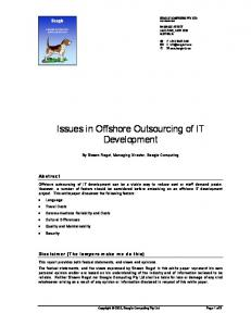 Issues in Offshore Outsourcing of IT Development