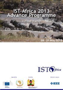 IST-Africa 2013 Advance Programme