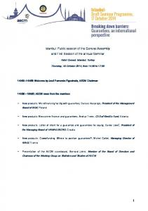 Istanbul: Public session of the General Assembly and First Session of the annual Seminar