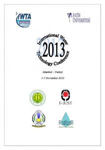 Istanbul Turkey 5-7 November 2013