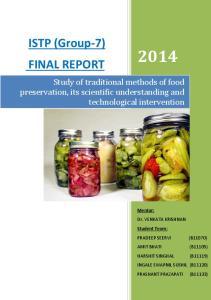 ISTP (Group-7) FINAL REPORT