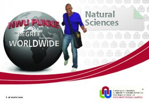 It all starts here. Natural Sciences