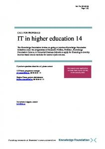 IT in higher education 14
