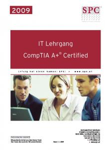 IT Lehrgang CompTIA A+ Certified
