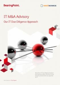 IT M&A Advisory. Our IT Due Diligence Approach