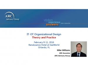 IT-OT Organizational Design Theory and Practice