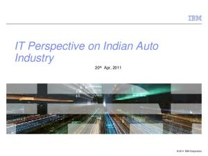 IT Perspective on Indian Auto Industry