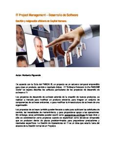 IT Project Management Desarrollo de Software