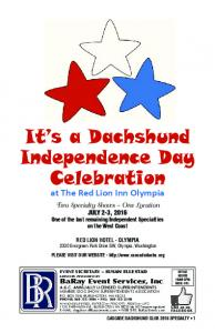 It s a Dachshund Independence Day Celebration