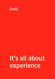 It s all about experience