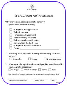 It s ALL About You Assessment