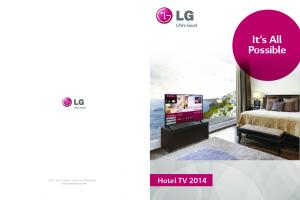 It s All Possible. Hotel TV 2014
