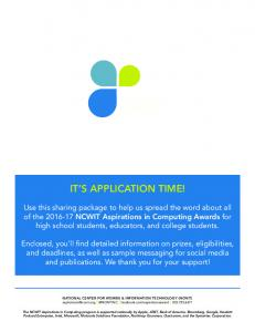 IT S APPLICATION TIME!