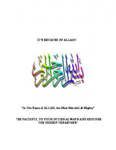 IT S BECAUSE OF ALLAH!!